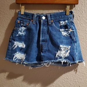 Levis Vintage Petros 501 Distressed Denim Shorts